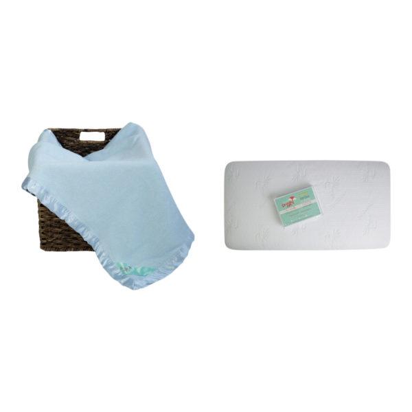 crib mattress protector and bamboo blanket set
