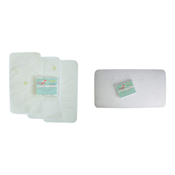 crib and changing table pad set
