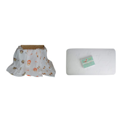 crib mattress protector and bamboo blanket set
