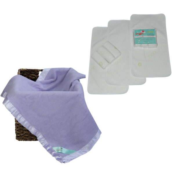 bamboo blanket and baby changing table pad set