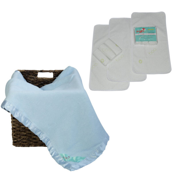 bamboo changing table pads and blanket set